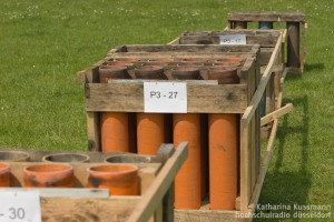 Die Abschussrohre für die Feuerwerkskörper