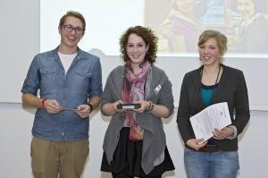 Preisträger Robin Rottmann, Nina Reuland und Merle Hömberg (v.l.n.r) - Foto: LfM