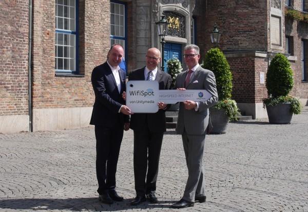 Ab dem 3. August 2015 bietet Unitymedia 33 Hotspots in Düsseldorf an - gratis.